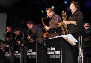 Chicago big band the Jazz Consortium Big Band performs swing jazz and jazz-rock favorites.