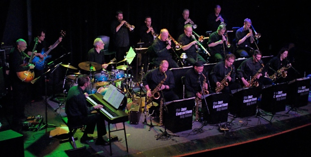 Big Band swing and jazz music every month at Durty Nellie's Pub with the Jazz Consortium Big Band